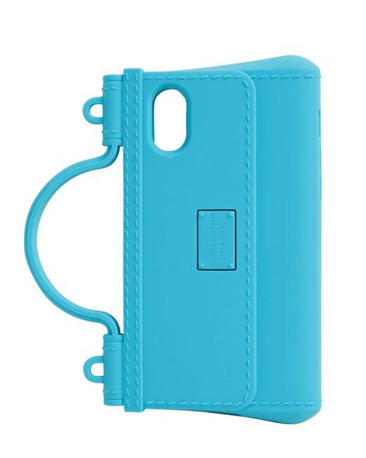 Dolce & Gabbana Iphone X/xsラバーケース Blue