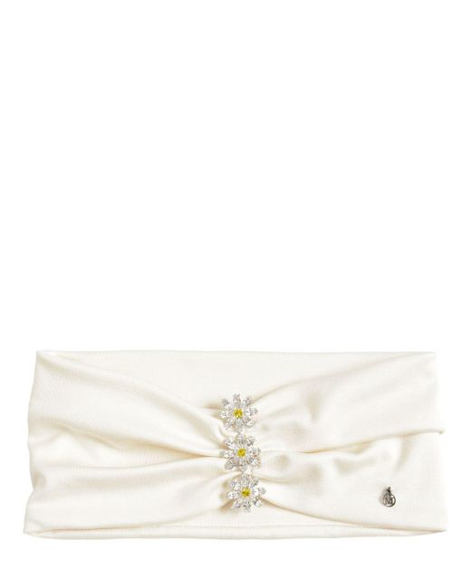 Повязка На Голову Из Джерси Maison Michel, цвет: White
