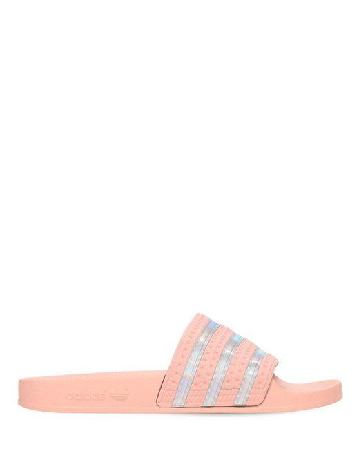 Adidas Originals Adilette スライドサンダル Pink