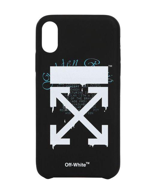 メンズ Off-White c/o Virgil Abloh Dripping Arrows Iphone X/xsカバー Black
