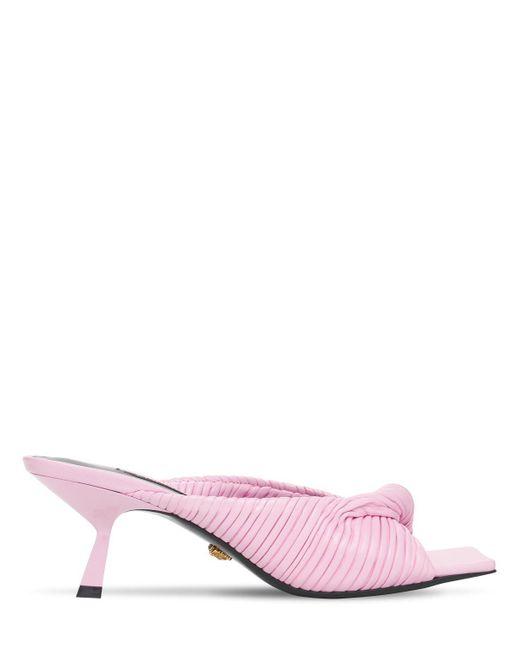 Versace レザーミュール 50mm Pink