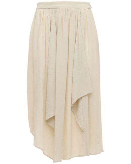 Isabel Marant Darnae コットン&シルククレープスカート White