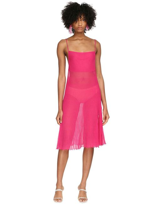 Jacquemus プリーツニットミニドレス Pink