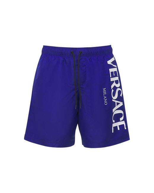 Плавки С Логотипом Versace для него, цвет: Blue