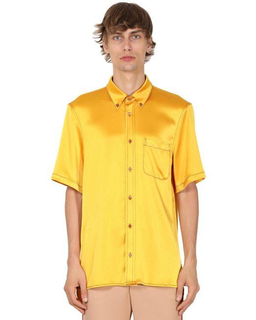 メンズ Sies Marjan テックサテンシャツ Yellow