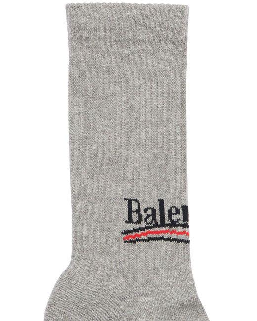 メンズ Balenciaga ストレッチコットンソックス Gray