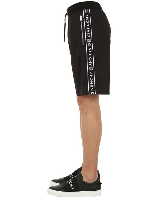 Shorts In Jersey di Givenchy in Black da Uomo