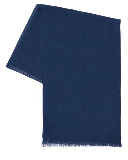 メンズ Loro Piana Golden カシミア&シルクガーゼスカーフ Blue