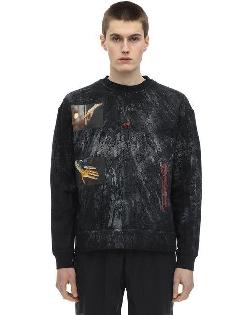 メンズ A_COLD_WALL* オーバーサイズ ジャージースウェットシャツ Black