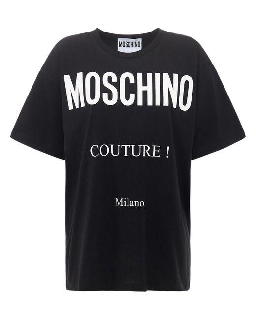 Moschino Couture Milan コットンジャージーtシャツ Black
