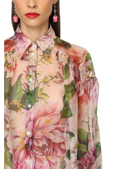 Тренчкот Из Шелковой Органзы Dolce & Gabbana, цвет: Pink