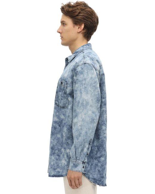 メンズ Isabel Marant オーバーサイズコットンデニムシャツ Blue