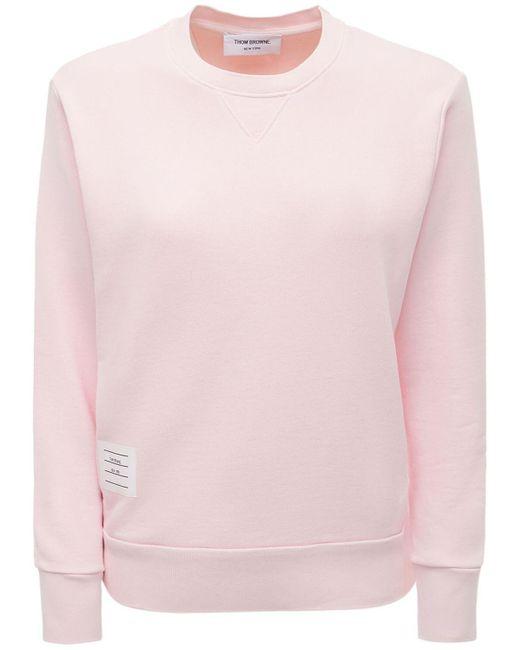 Thom Browne コットンジャージースウェットシャツ Pink