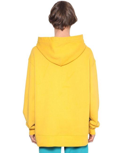 メンズ Just Don 刺繍 ジャージースウェットフーディ Yellow