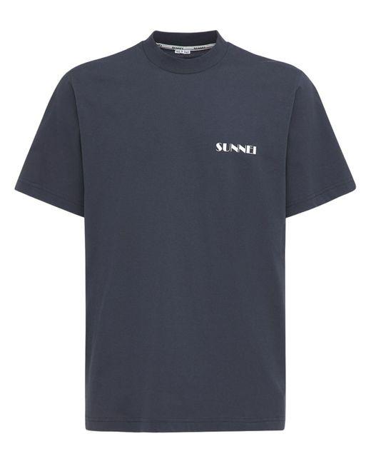 メンズ Sunnei コットンtシャツ Blue