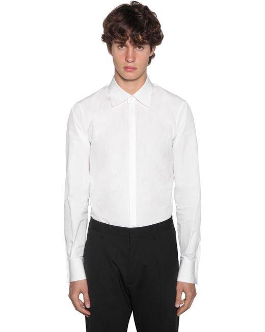 メンズ DSquared² Slim Fit Relaxed Danコットンポプリンシャツ White