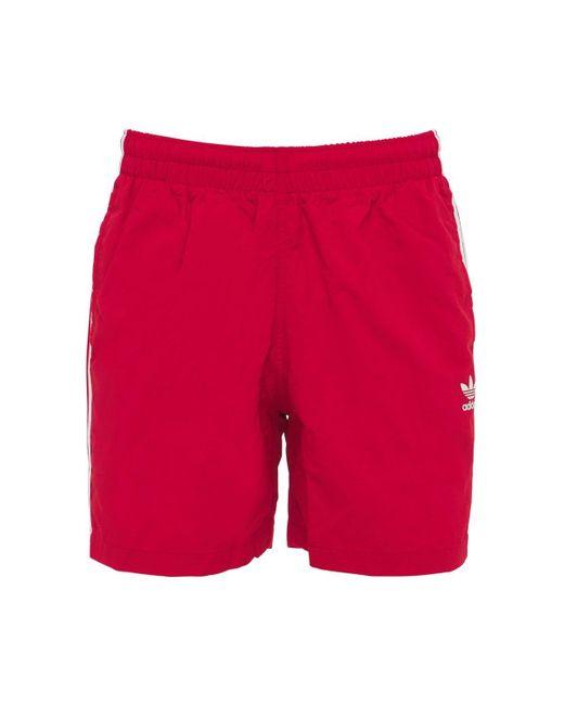 メンズ Adidas Originals Primegreen 3-stripe 水着 Red