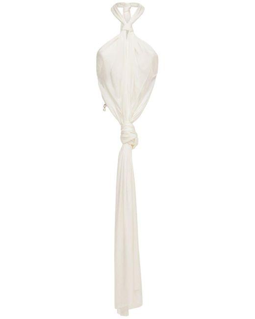 Haut En Viscose Et Crêpe De Satin Avec Noeud Givenchy en coloris White