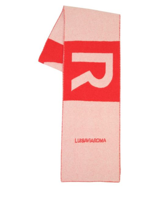LUISAVIAROMA Lvr ロゴ カシミアマフラー Red