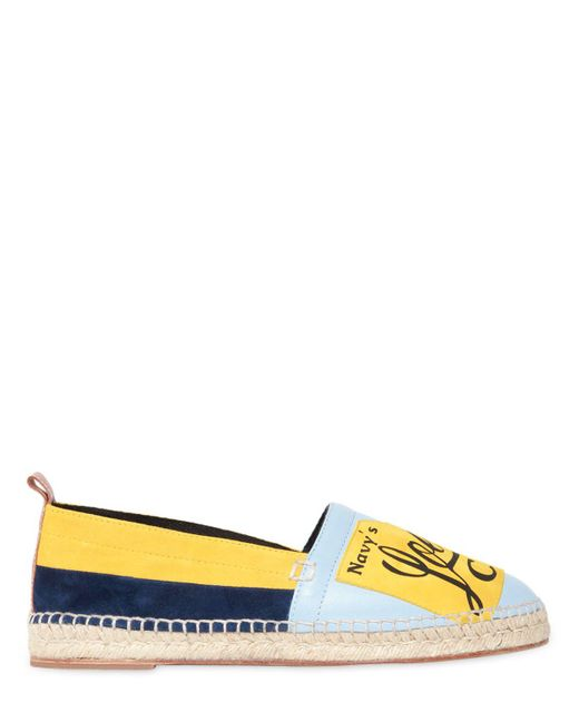 LoeweLOGO PATCH SUEDE & LEATHER ESPADRILLES