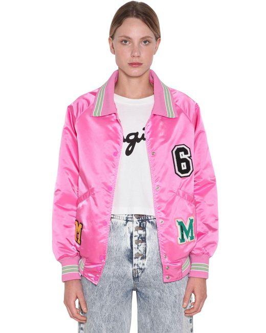 MM6 by Maison Martin Margiela ナイロンボンバージャケット Pink
