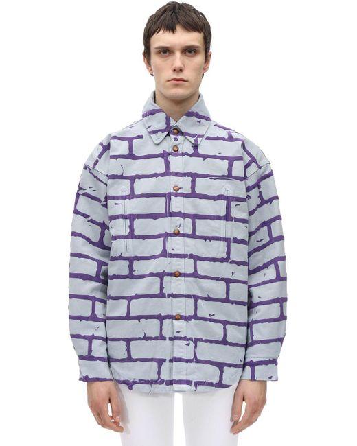 メンズ Formy Studio Formy Break The Wall パデッドシャツジャケット Purple