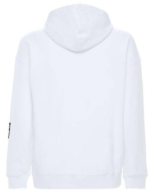 メンズ Givenchy コットンスウェットフーディー White