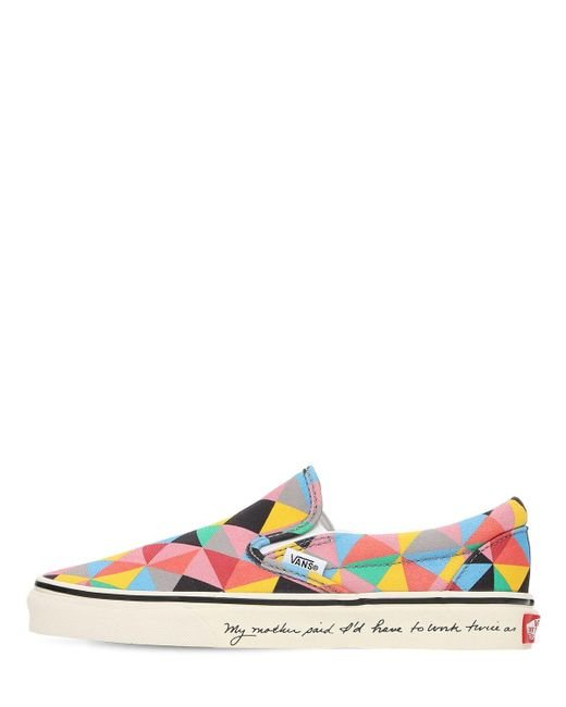 """Vans Multicolor Slip On-sneakers """"faith Ringgold Moma """""""