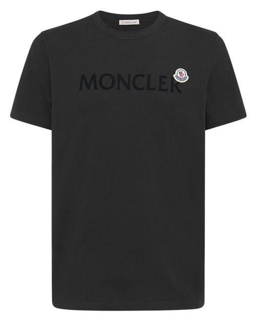 Футболка Из Хлопкового Джерси Moncler для него, цвет: Black
