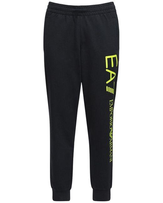 メンズ EA7 コットンスウェットパンツ Black