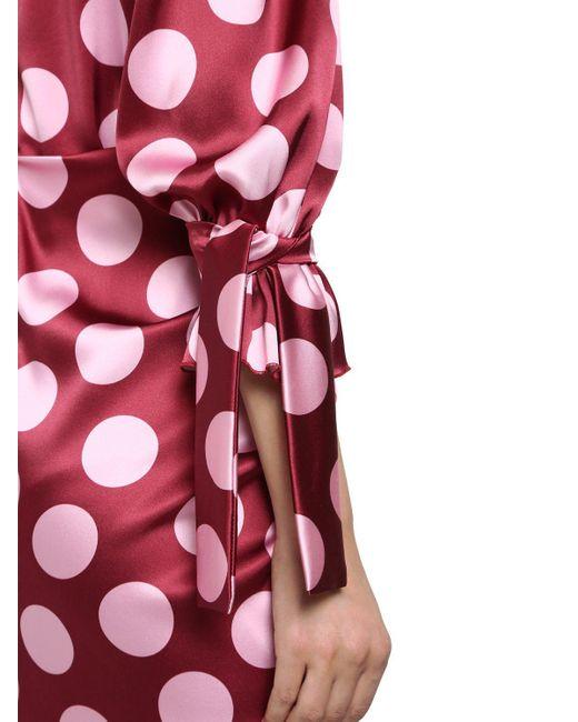 Dolce & Gabbana ストレッチシルクサテンミニドレス Red