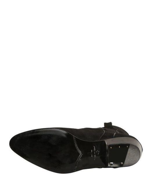 メンズ Louis Leeman スエードウェスタンブーツ 35mm Black