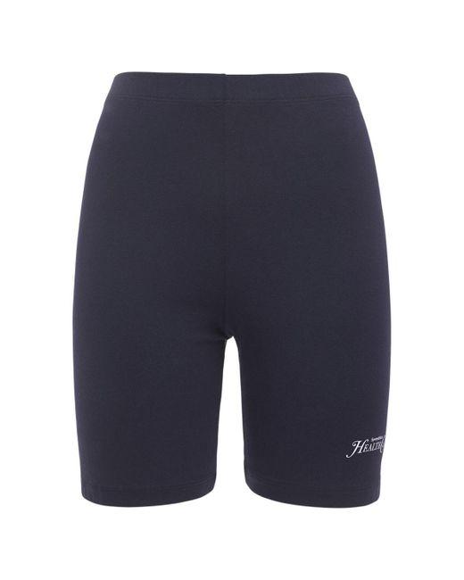 Sporty & Rich Rizzoli バイカーパンツ Blue