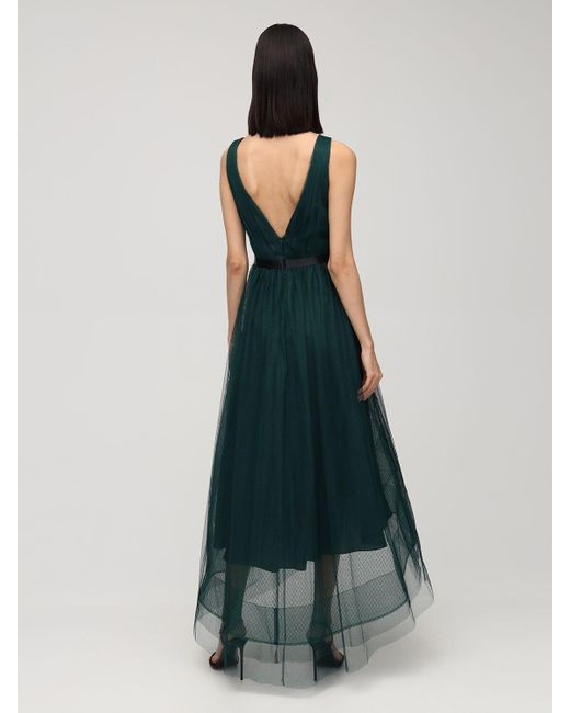 Marchesa notte 装飾チュールドレス Green