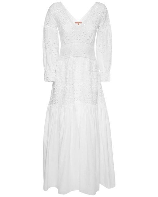 Ermanno Scervino コットンアイレットドレス White
