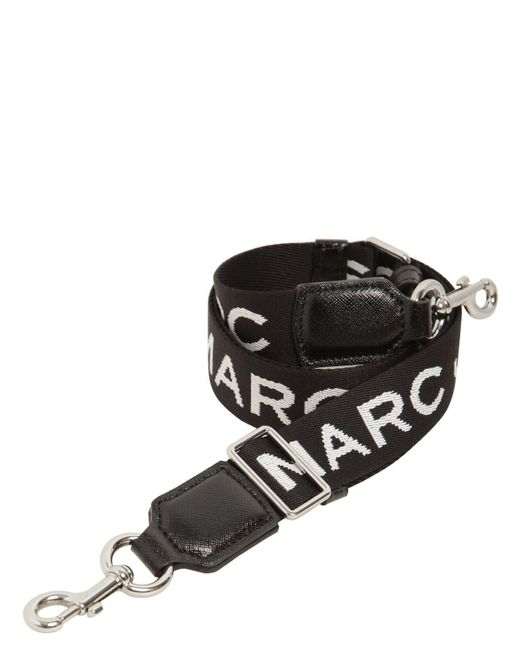 Marc Jacobs Mj ロゴ ウェビングショルダーストラップ 35mm Black