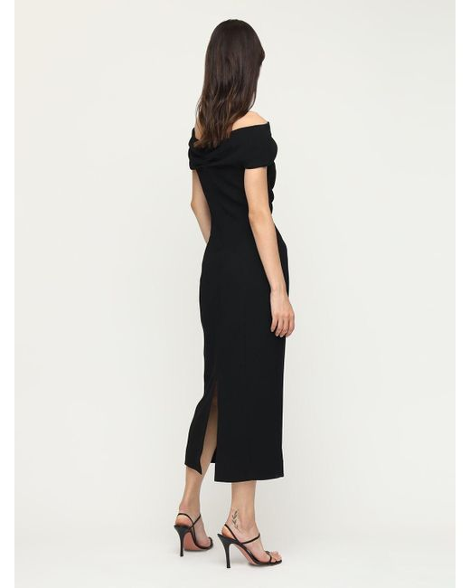 Emilia Wickstead ダブルクレープドレス Black