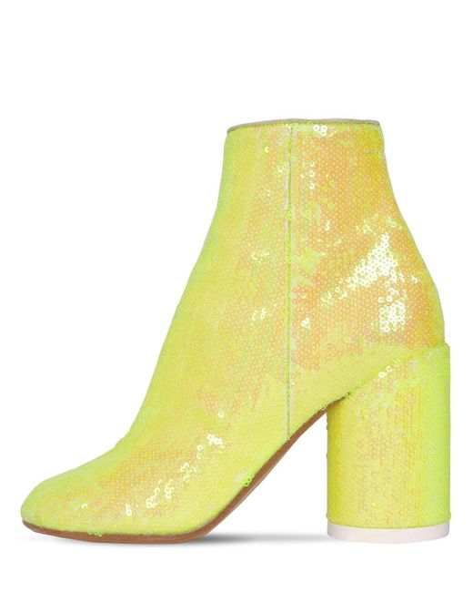 Ботильоны С Пайетками MM6 by Maison Martin Margiela, цвет: Yellow