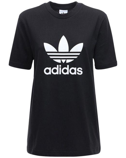 Adidas Originals 3-stripes コットンtシャツ Black