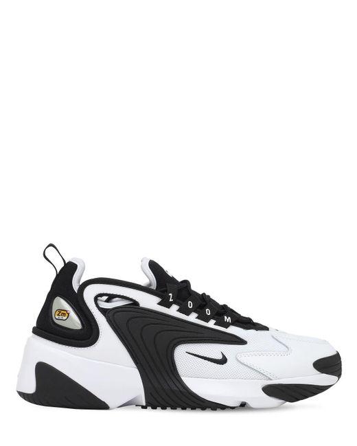 Черно-белые Кроссовки Zoom 2k-белый Nike, цвет: Black