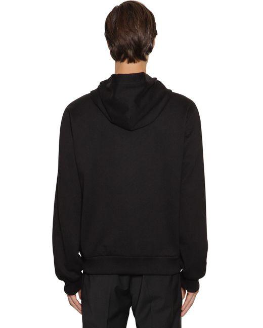 Свитшот Из Хлопка Dolce & Gabbana для него, цвет: Black