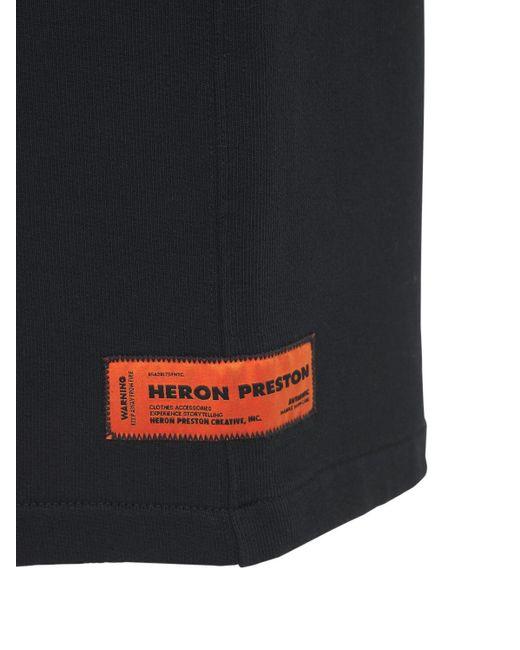 Heron Preston Shorts Aus Jersey Mit Druck in Black für Herren