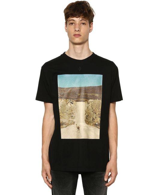 メンズ Marcelo Burlon コットンジャージーtシャツ Black