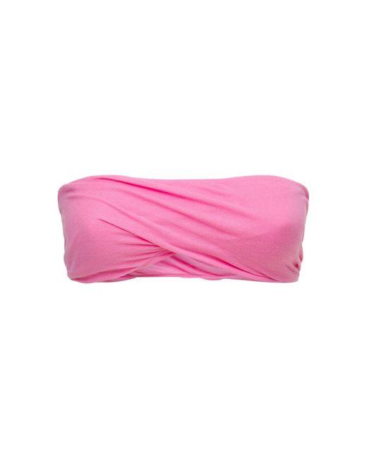 Rick Owens ビスコース&シルクバンドゥブラトップ Pink