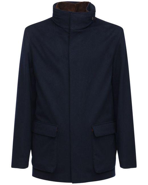 Куртка Из Кашемира Loro Piana для него, цвет: Blue