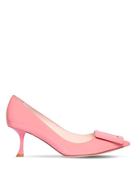 Туфли Из Лакированной Кожи 65мм Roger Vivier, цвет: Pink