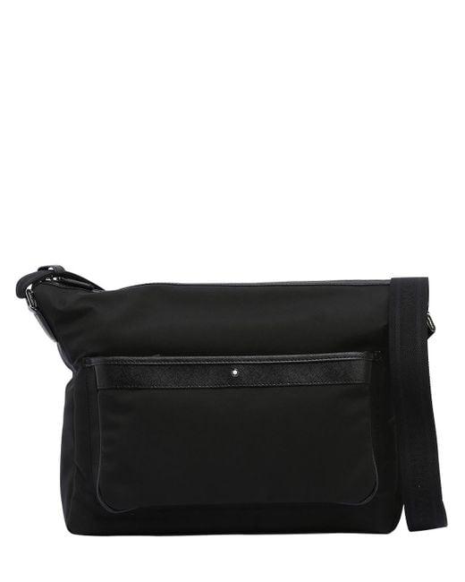 Montblanc - Black Sartorial Jet Nylon Messenger Bag for Men - Lyst