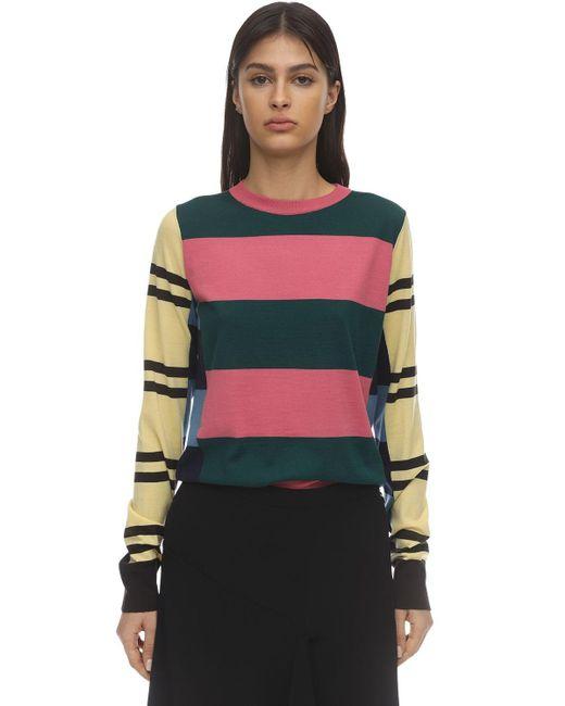 Colville ウールニットセーター Multicolor