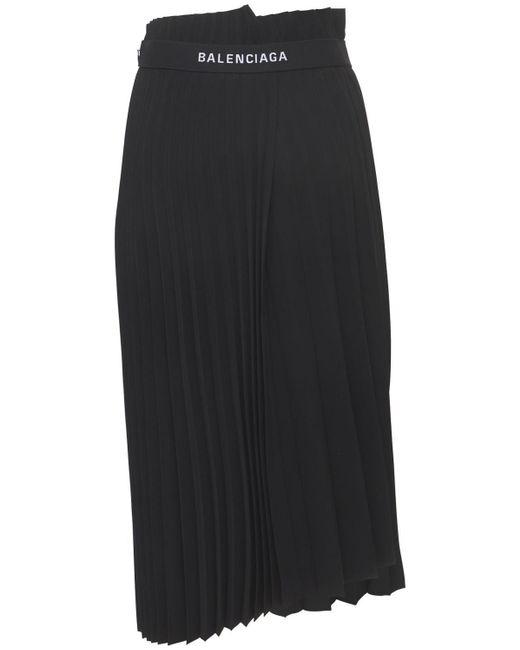 Balenciaga プリーツジャージースカート Black