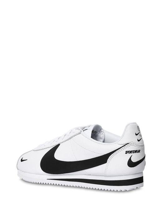 メンズ Nike ホワイト コルテッツ ベーシック スニーカー White